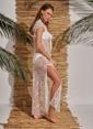 Morhipo Beach Yıldız Detaylı Elbise Ekru